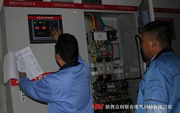 消防泵控制柜现场调试